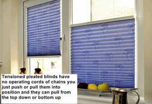 Make it safe - tensioned pleated blinds - Marla