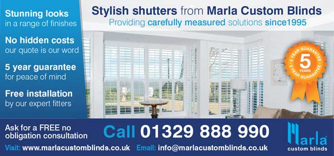 marla stylinsh shutteres in the lounge