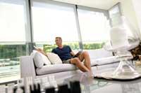 motorised side blinds - Marla conservatory blinds