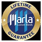 Marla blinds lifetime guarantee